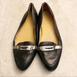 Coach Ruthie black soft leather pointed toe flats